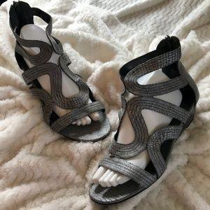 NWOT Lane Bryant Women's Grey Sandals, Size 11W